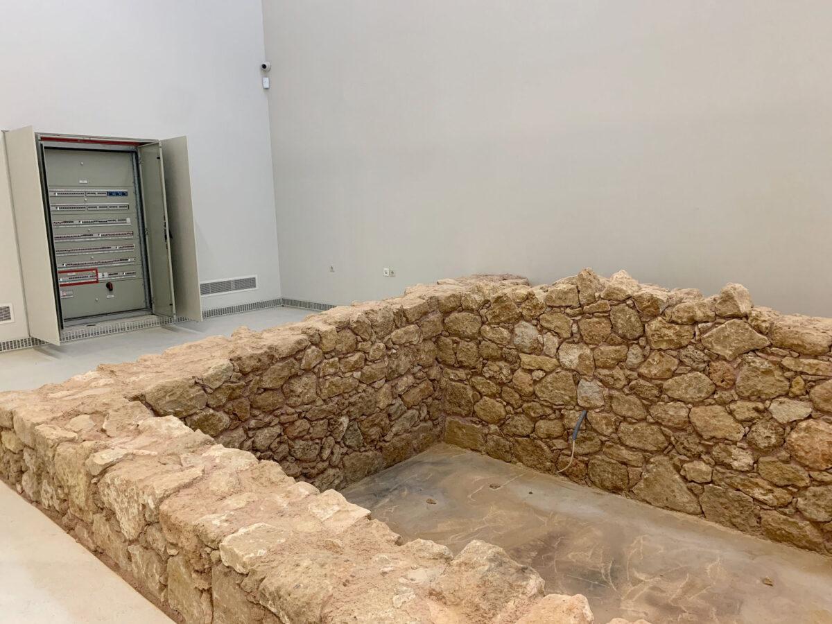 Αρχαιολογικό Μουσείο Χανίων, εσωτερικός χώρος. Εγκατάσταση ρωμαϊκής βίλας (φωτ.: ΥΠΠΟΑ).