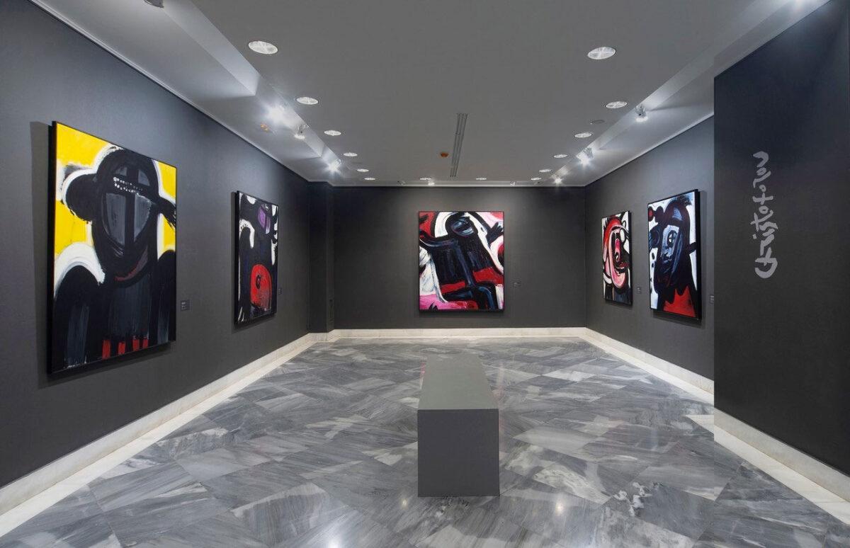 Άποψη της έκθεσης «Αφαιρετικές προσεγγίσεις Ελλήνων καλλιτεχνών της Διασποράς» (φωτ.: Ίδρυμα Βασίλη & Ελίζας Γουλανδρή).