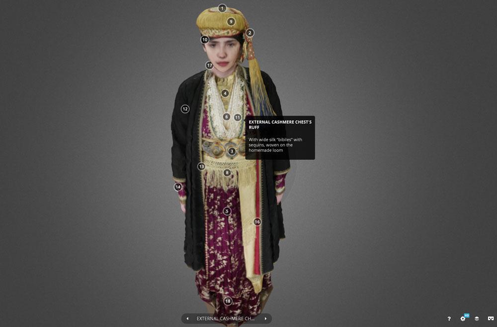 Παραδοσιακή φορεσιά Νάουσας: «πρωτιά» στη διαδικτυακή βιβλιοθήκη sketchfab