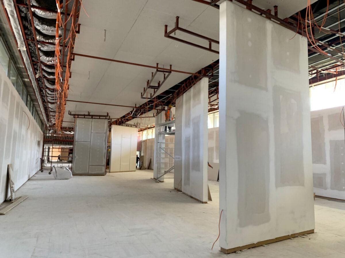 Εντός του ορισμένου χρονικού πλαισίου οι εργασίες στην Εθνική Πινακοθήκη, που αναμένεται να εγκαινιαστεί στις 25 Μαρτίου 2021 (φωτ.: ΥΠΠΟΑ).