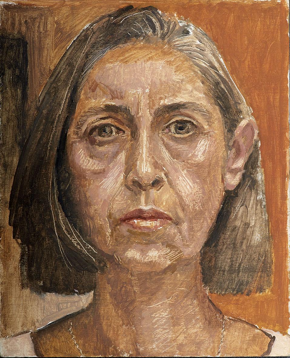 Ναταλία Θωμαΐδη, «Αυτοπροσωπογραφία», 2015, λάδι σε χαρτόνι, 30x24 εκ., Ιδιωτική συλλογή.