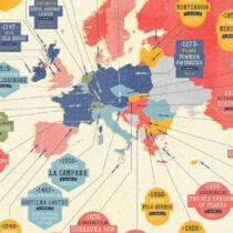Χάρτης με τα παλαιότερα εστιατόρια του κόσμου