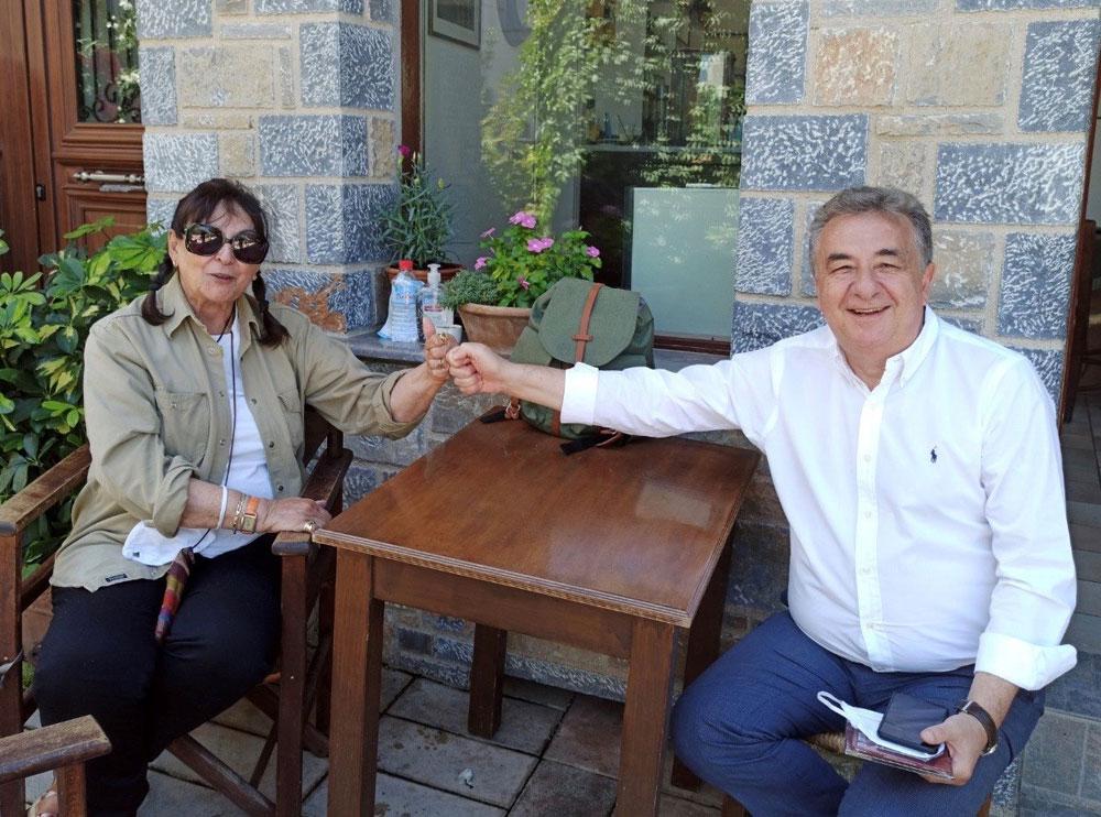 Συνάντηση με την επίτιμη διευθύντρια Αρχαιοτήτων, δρα Έφη Σαπουνά-Σακελλαράκη, που πραγματοποιεί ανασκαφές στη Ζώμινθο, είχε ο περιφερειάρχης Κρήτης Σταύρος Αρναουτάκης.