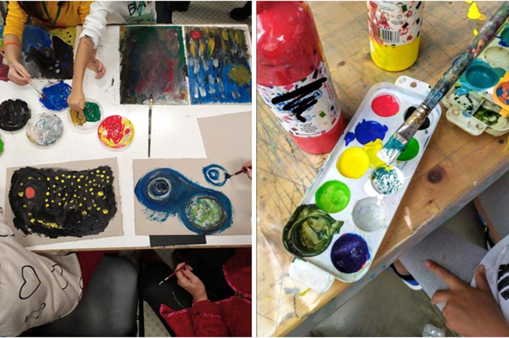 Τα παιδιά κάθε Σαββατοκύριακο, έρχονται σε επαφή με την Ιστορία της Τέχνης, με σπουδαίους καλλιτέχνες, εξερευνώντας ταυτόχρονα διαφορετικά μέσα και τεχνικές.
