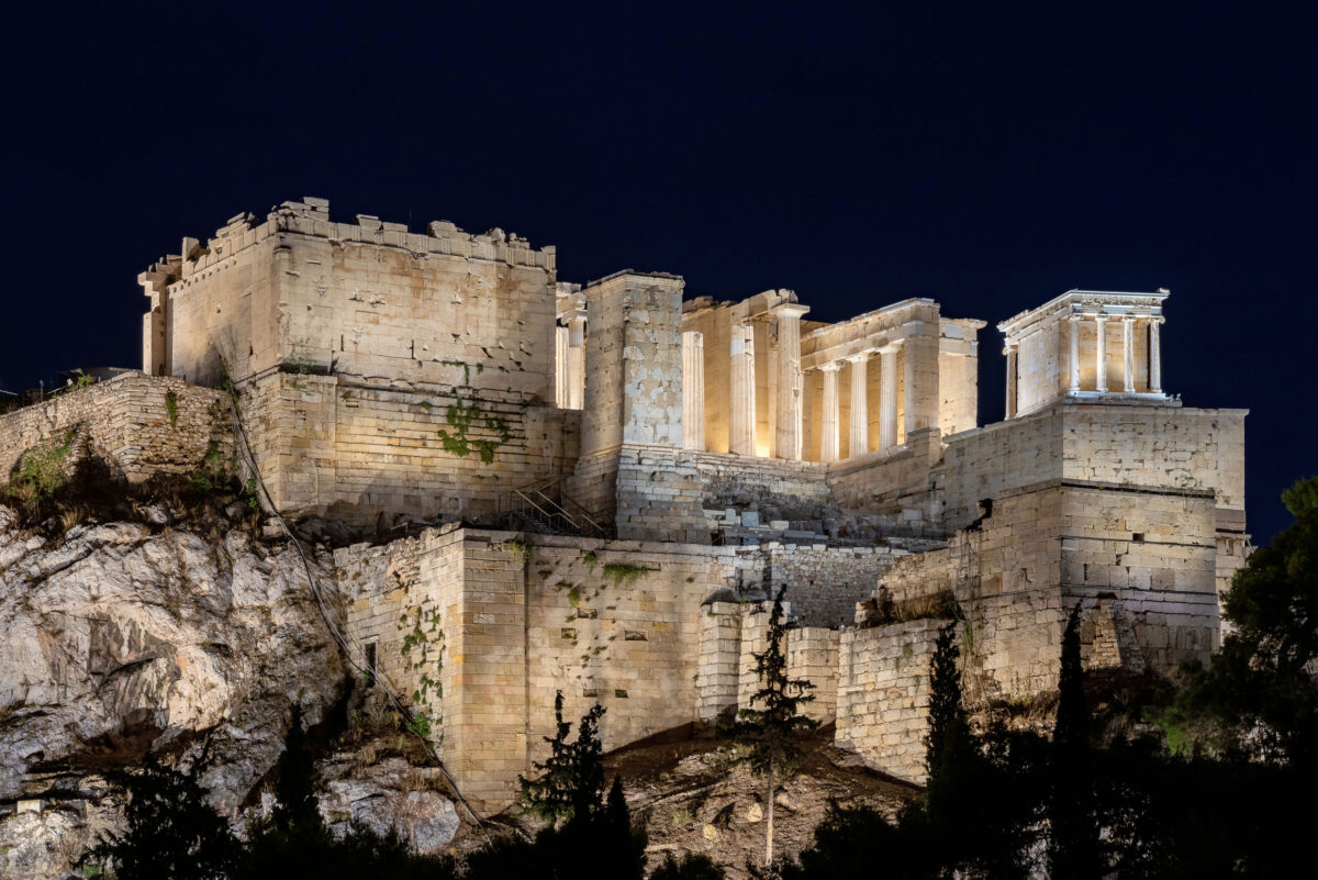 Ο νέος φωτισμός της Ακρόπολης. © Gavriil Papadiotis.