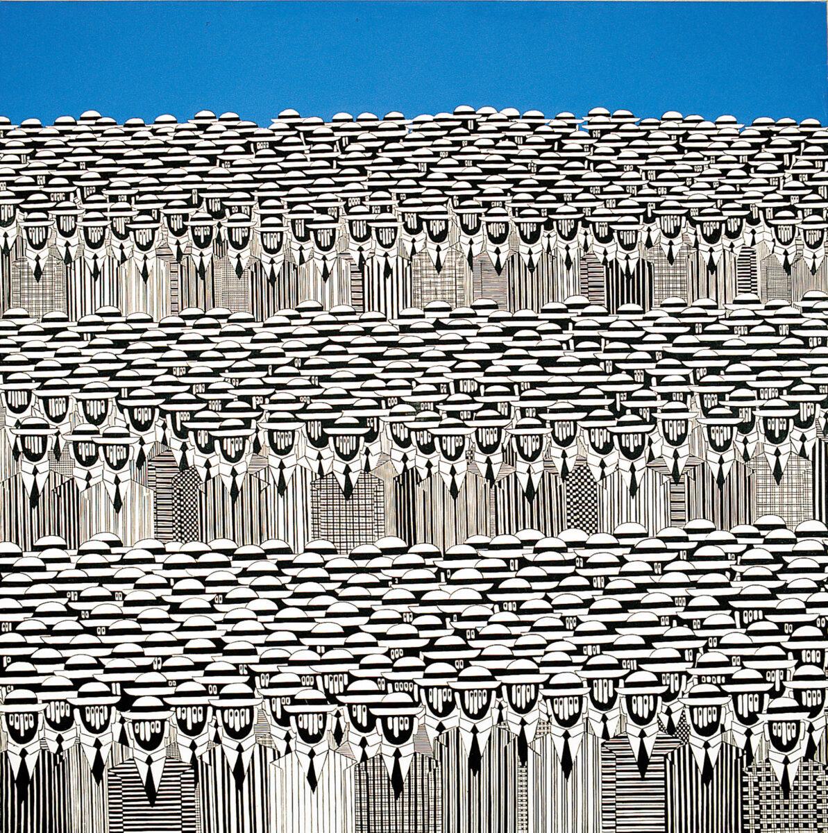 Γιάννης Γαΐτης, «Ανθρώπινο Τοπίο». Φωτ.: Δημοτική Πινακοθήκη Λάρισας - Μουσείο Γ.Ι. Κατσίγρα.