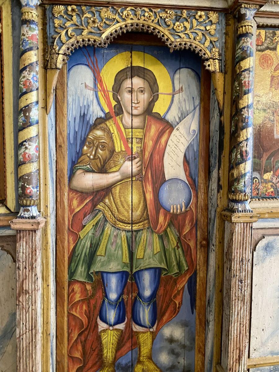Τοιχογραφία στον ναό Αγίου Γεωργίου στο Ρεπανίδι της Λήμνου (φωτ.: ΥΠΠΟΑ).