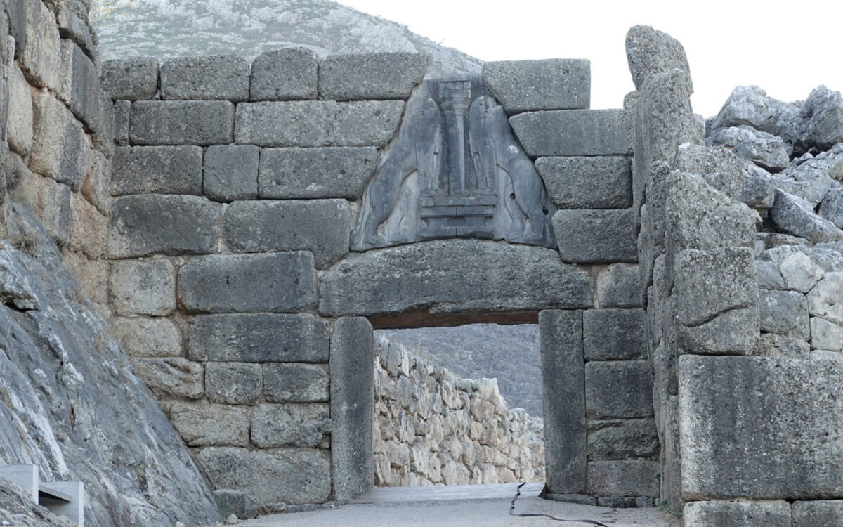 Η Πύλη των Λεόντων, στις Μυκήνες (φωτ.: ΥΠΠΟΑ).