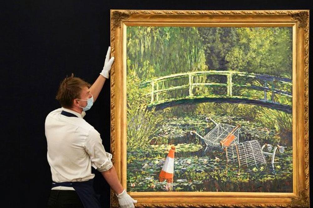 Στο σφυρί η ερμηνεία από τον Banksy του αριστουργήματος του Κλοντ Μονέ