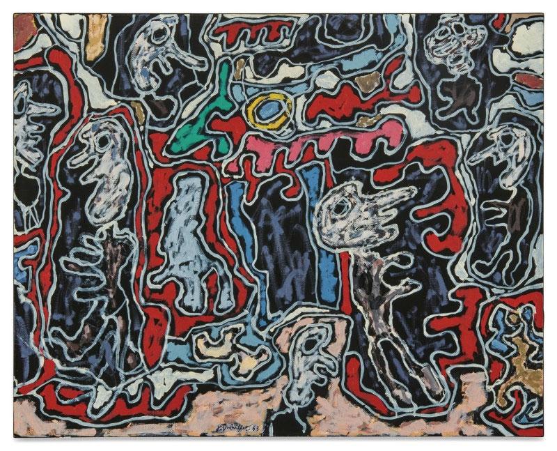 Ζαν Ντιμπιφέ, «Rue Tournique Bourlique» (1963). Φωτ.: Sotheby's.