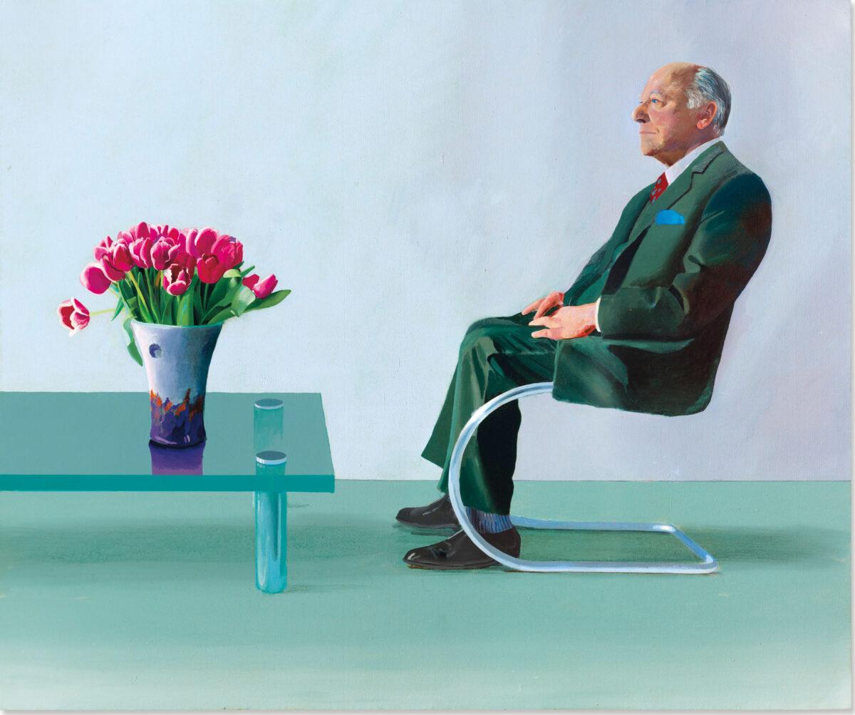 Πορτρέτο του Σερ Ντέιβιντ Γουέμπστερ. Έργο του Ντέιβιντ Χόκνεϊ (φωτ.: Christie's).