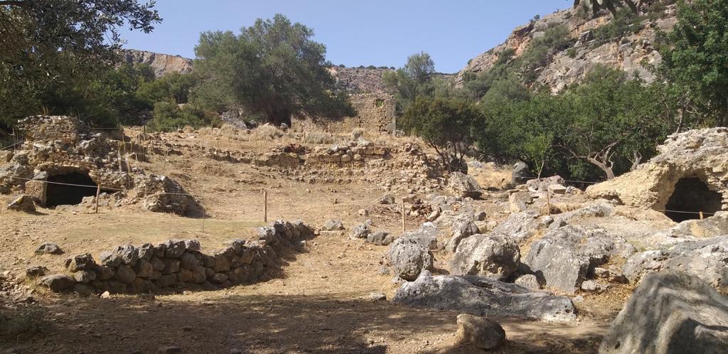 Στον αρχαιολογικό χώρο της Λισού (φωτ.: Περιφέρεια Κρήτης).
