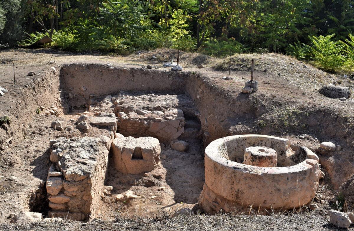 Το ελαιουργείο (φωτ.: Εφορεία Αρχαιοτήτων Ανατολικής Αττικής).