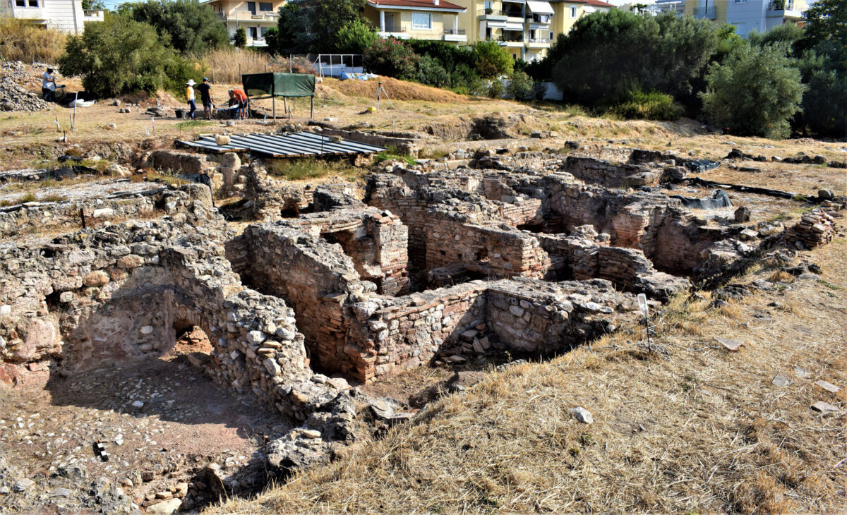 Το κεντρικό τμήμα του Βαλανείου (φωτ.: Εφορεία Αρχαιοτήτων Ανατολικής Αττικής).