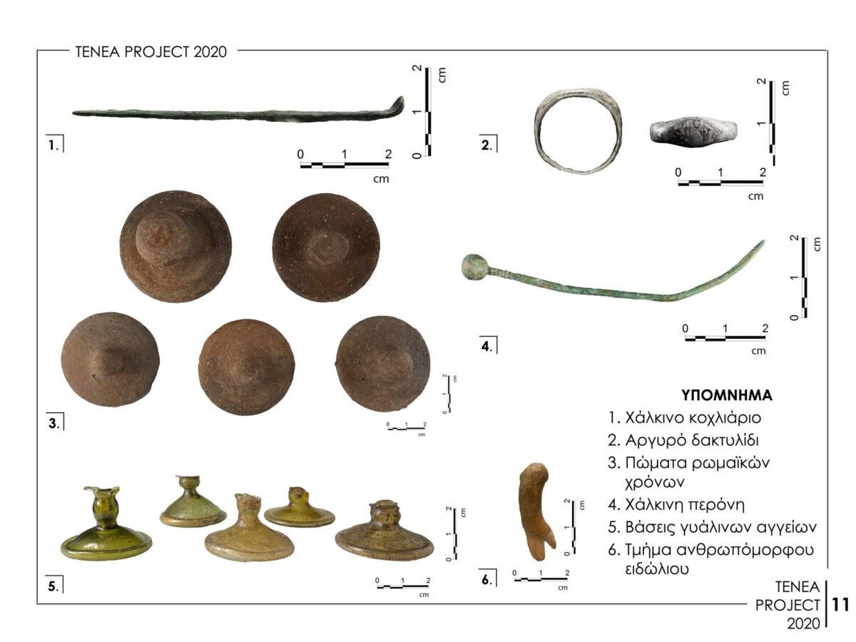 Αποτελέσματα της Συστηματικής Αρχαιολογικής Έρευνας «Αρχαίας Τενέας» στο Χιλιομόδι Κορινθίας (φωτ.: ΥΠΠΟΑ).