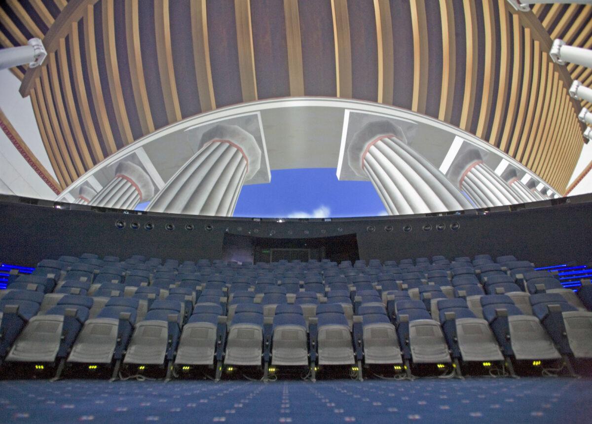 H «Θόλος», το μεγάλο Θέατρο Εικονικής Πραγματικότητας στο Κέντρο Πολιτισμού «Ελληνικός Κόσμος».