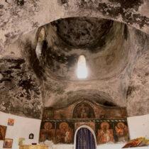 Ο ναός της Παναγίας ή Αγίας Άννας. Άποψη του εσωτερικού.