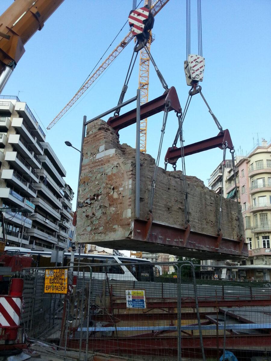 Απόσπαση του κρηναίου οικοδομήματος, Αγία Σοφία (φωτ.: ΥΠΠΟΑ).