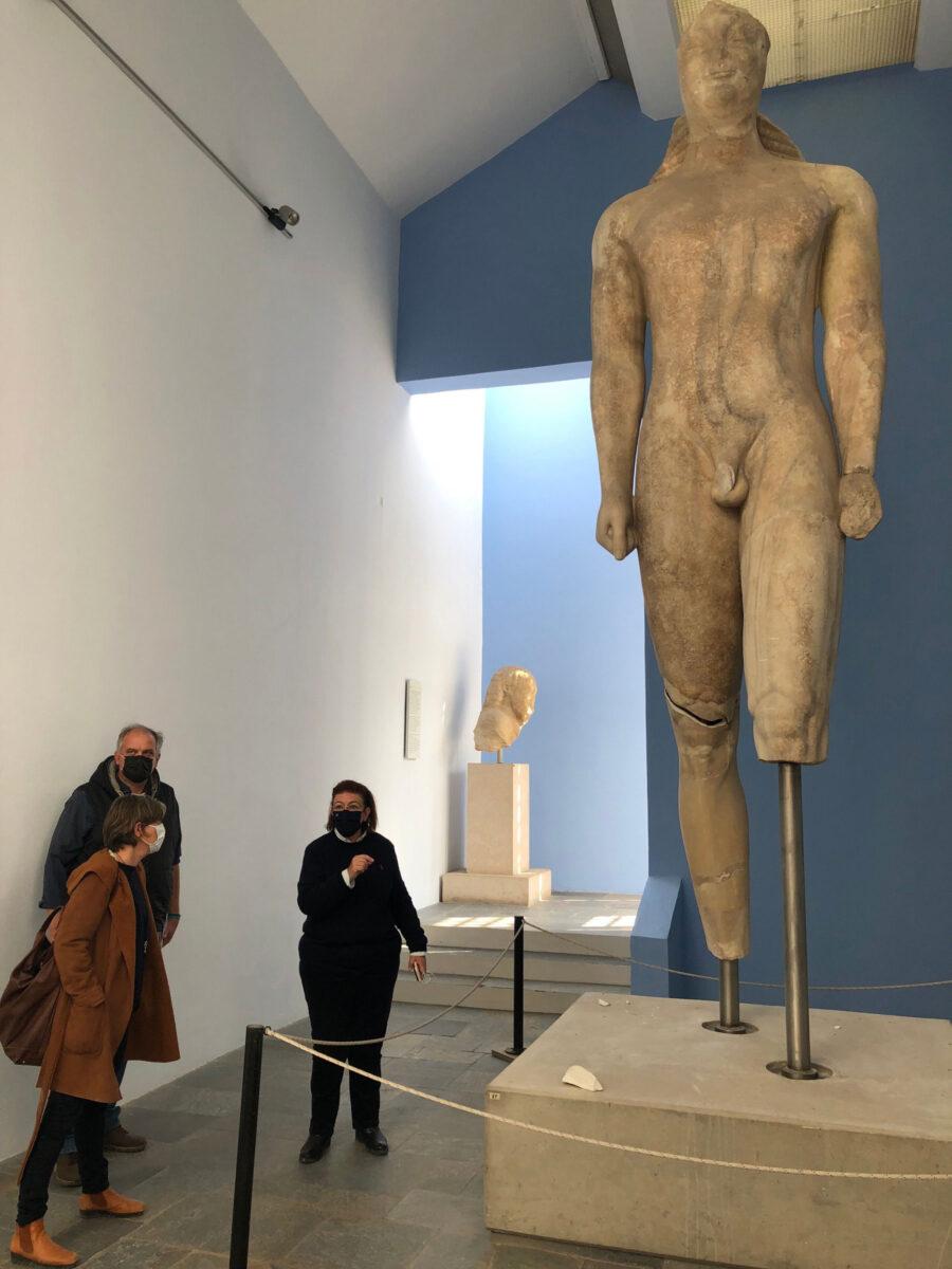 Ο Κούρος στο Μουσείο Βαθέος (φωτ.: ΥΠΠΟΑ).
