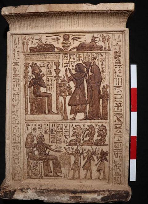 Στήλη του Κα Πταχ και της Μουτεμούια. Ίσως 19η Δυναστεία, εποχή Ραμσή Β'. Πηγή: Υπουργείο Τουρισμού και Αρχαιοτήτων της Αιγύπτου.