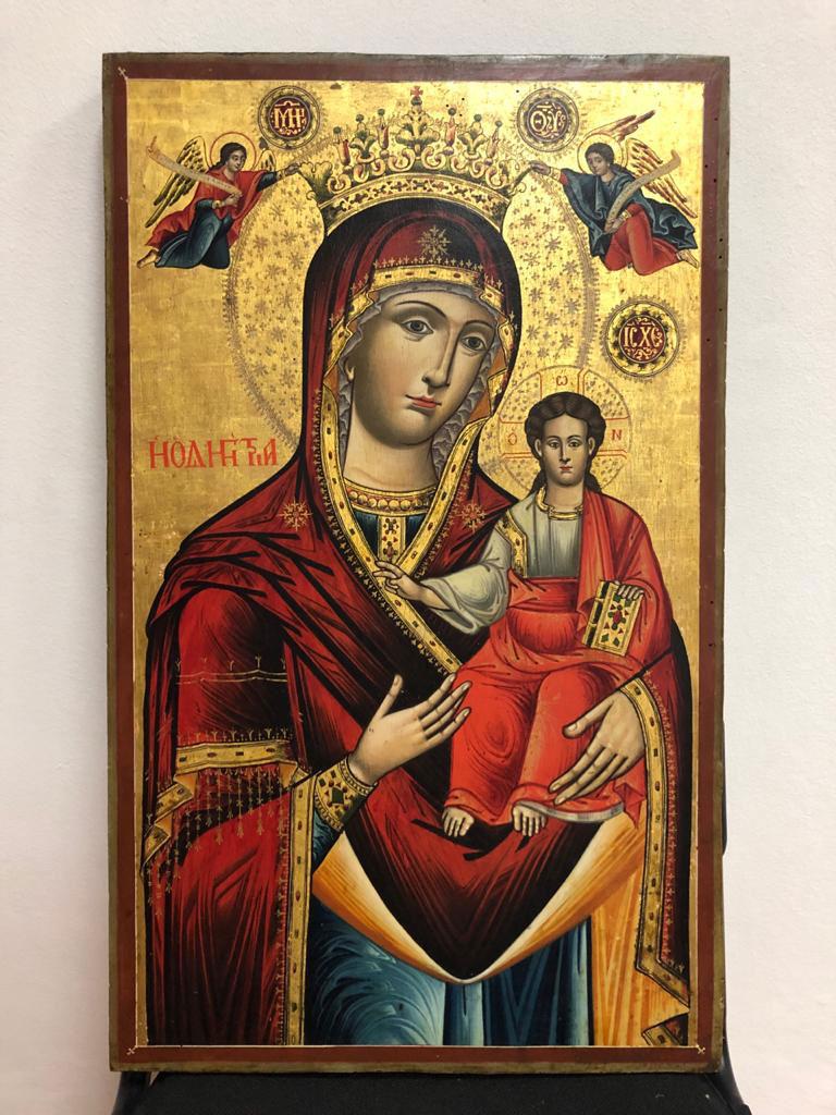 Η εικόνα της Παναγίας Οδηγήτριας που είχε κλαπεί από την Ιερά Μονή Αγίας Τριάδας στην Οξυά Καρδίτσας (φωτ.: ΥΠΠΟΑ).