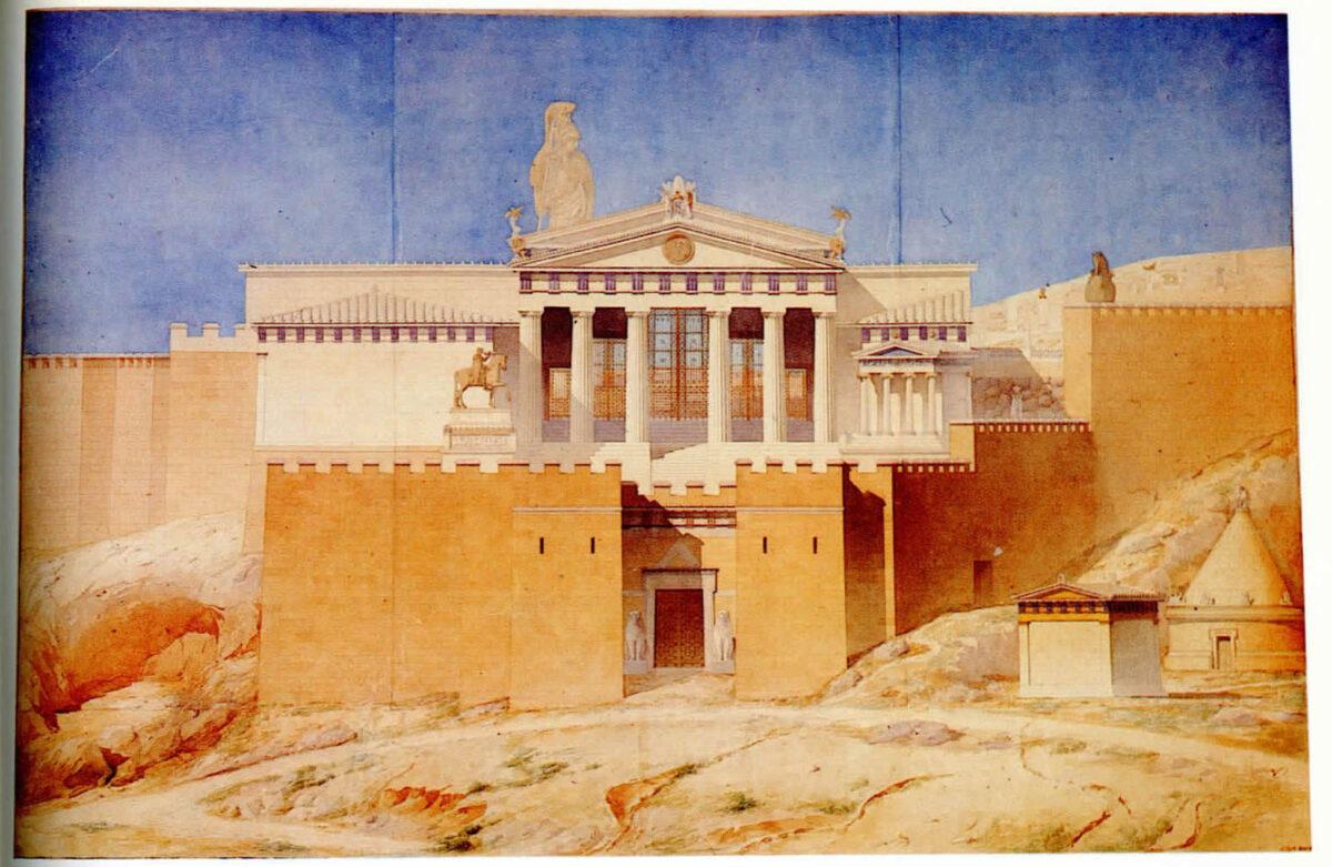 Η δυτική είσοδος της Ακρόπολης (πηγή εικόνας: ΥΠΠΟΑ).