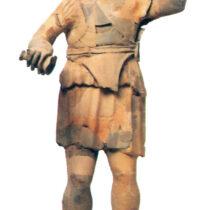 Πήλινο ειδώλιο νέου λατρευτή από το Κάλλιο, ελληνιστικών χρόνων.