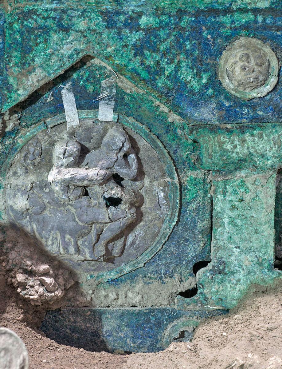 Ρωμαϊκό άρμα, σε εξαιρετική κατάσταση διατήρησης, βρέθηκε στην Πομπηία (φωτ.: MiBACT - Luigi Spina).