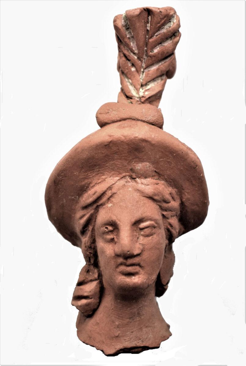 Ειδώλιο Αθηνάς, 2ος αι. π.Χ. Φωτ.: Εφορεία Αρχαιοτήτων Ημαθίας.