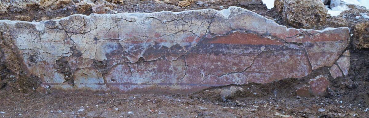 Κονιάματα in situ. Φωτ.: Εφορεία Αρχαιοτήτων Ημαθίας.