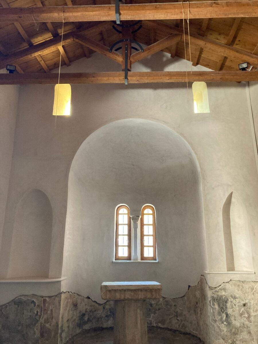 Η αποκατάσταση του ναού του Αγίου Ελισσαίου που περιλαμβάνεται στο κτηριακό συγκρότημα του Μουσείου, έχει ολοκληρωθεί (φωτ.: ΥΠΠΟΑ).