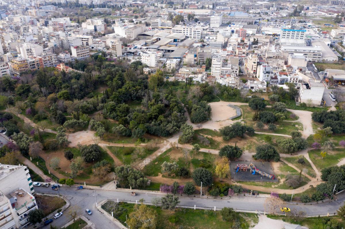 Αεροφωτογραφία του αρχαιολογικού χώρου της Ακαδημίας Πλάτωνος (φωτ.: ΥΠΠΟΑ).