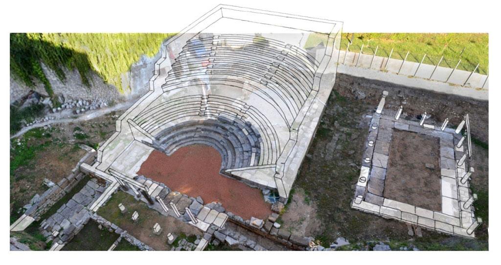 Το «Μικρό» Θέατρο της Αμβρακίας αποκαλύφθηκε τη δεκαετία του 1970 στο κέντρο της πόλης της Άρτας κατά τη διάρκεια εκσκαφικών εργασιών σε ιδιωτικό οικόπεδο.