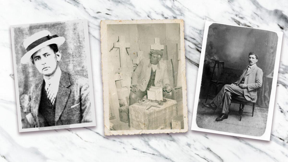 Ευρυβιάδης Λαμπαδίτης, Μιχάλης Κουσκουρής και Χαράλαμπος Τζαβελόπουλος είναι οι τρεις πρώτοι, από τους συνολικά δώδεκα μαρμαρογλύπτες, τους οποίους θα γνωρίσουμε (φωτ.: ΠΙΟΠ).