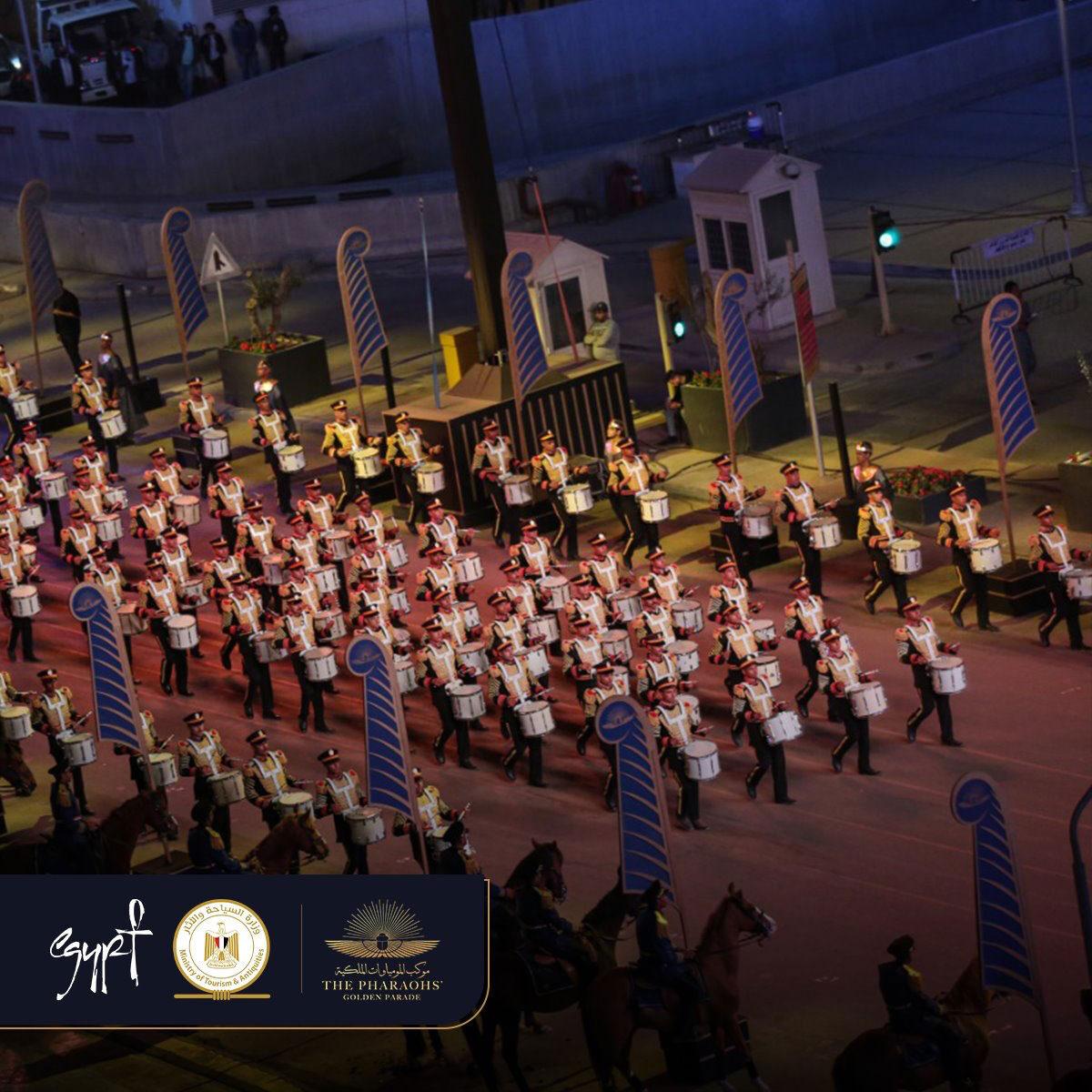 Στιγμιότυπo από τη Χρυσή Παρέλαση των Φαραώ (φωτ.: Υπουργείο Τουρισμού και Αρχαιοτήτων της Αιγύπτου).