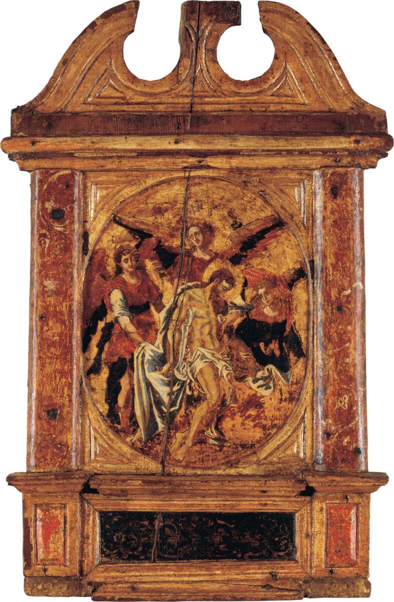 «Το Πάθος του Χριστού – Πιετά με Αγγέλους», αποδ. στον Δομήνικο Θεοτοκόπουλο, Κρήτη 1566, Ίδρυμα Αικατερίνης Λασκαρίδη.