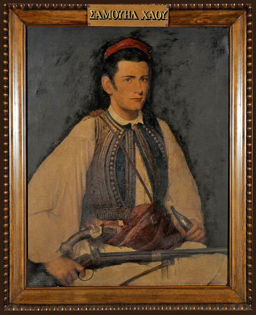Προσωπογραφία του Σαμουήλ Γκρίντλεϋ Χάου από τον John Elliot. Εθνικό Ιστορικό Μουσείο (φωτ.: Γεννάδειος Βιβλιοθήκη).