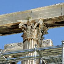Ναός Ολυμπίου Διός: Συνεχίζονται οι εργασίες συντήρησης