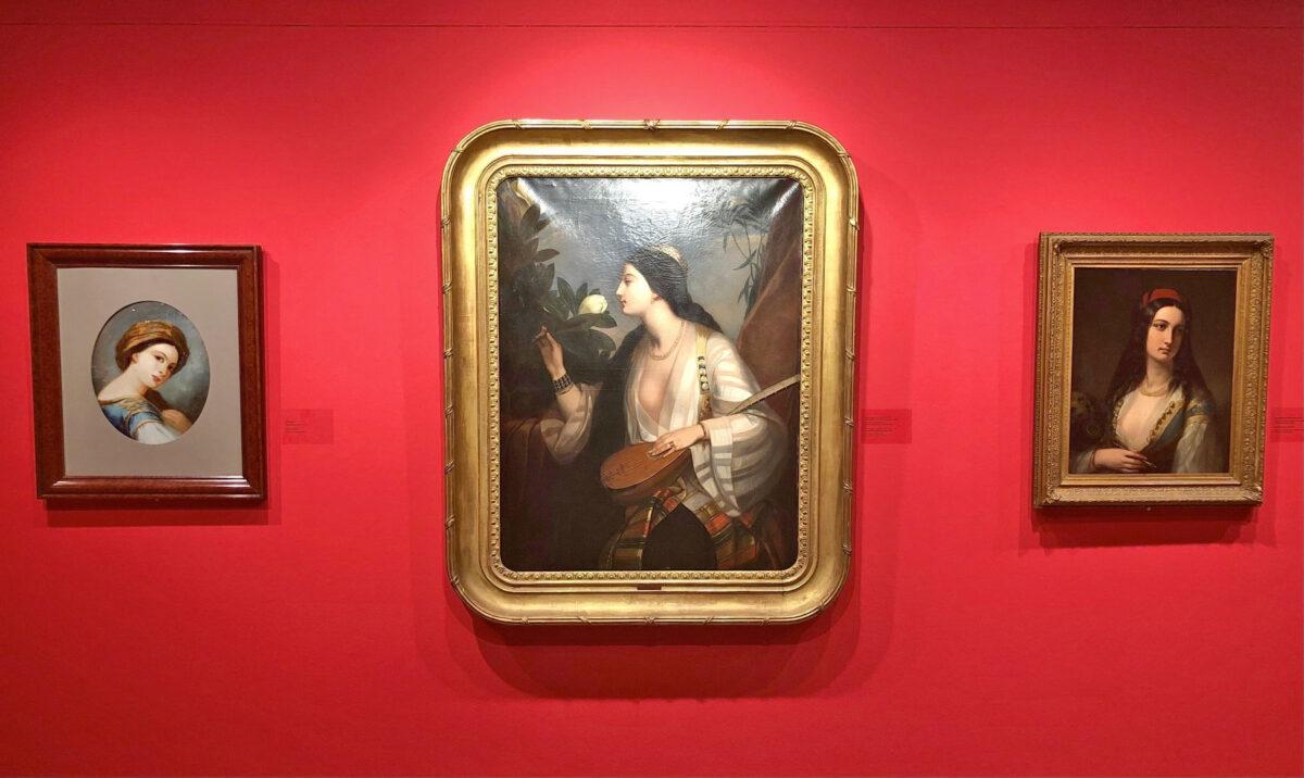 Άποψη της έκθεσης «Η Ελληνίδα του '21 στη φιλελληνική Τέχνη» (φωτ.: ΥΠΠΟΑ).
