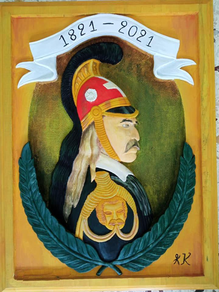 Mαθητές της Σχολής Ξυλογλυπτικής της Καλαμπάκας αποτύπωσαν σε ξυλόγλυπτα προσωπικότητες της Ελληνικής Επανάστασης του 1821 (φωτ.: ΑΠΕ-ΜΠΕ).