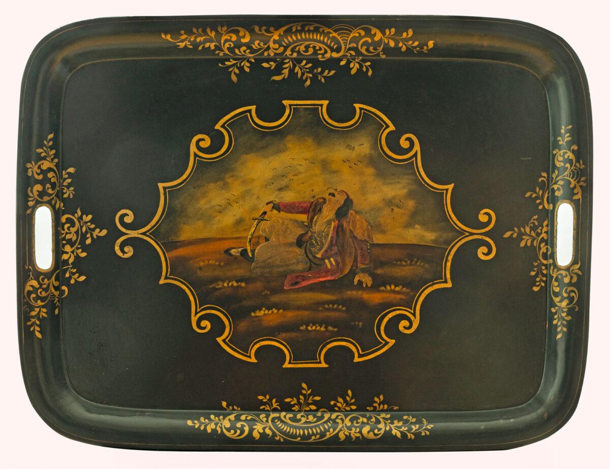 Δίσκος σερβιρίσματος με παράσταση «Ο θάνατος του παλληκαριού». Γαλλία, δεκαετία 1820.