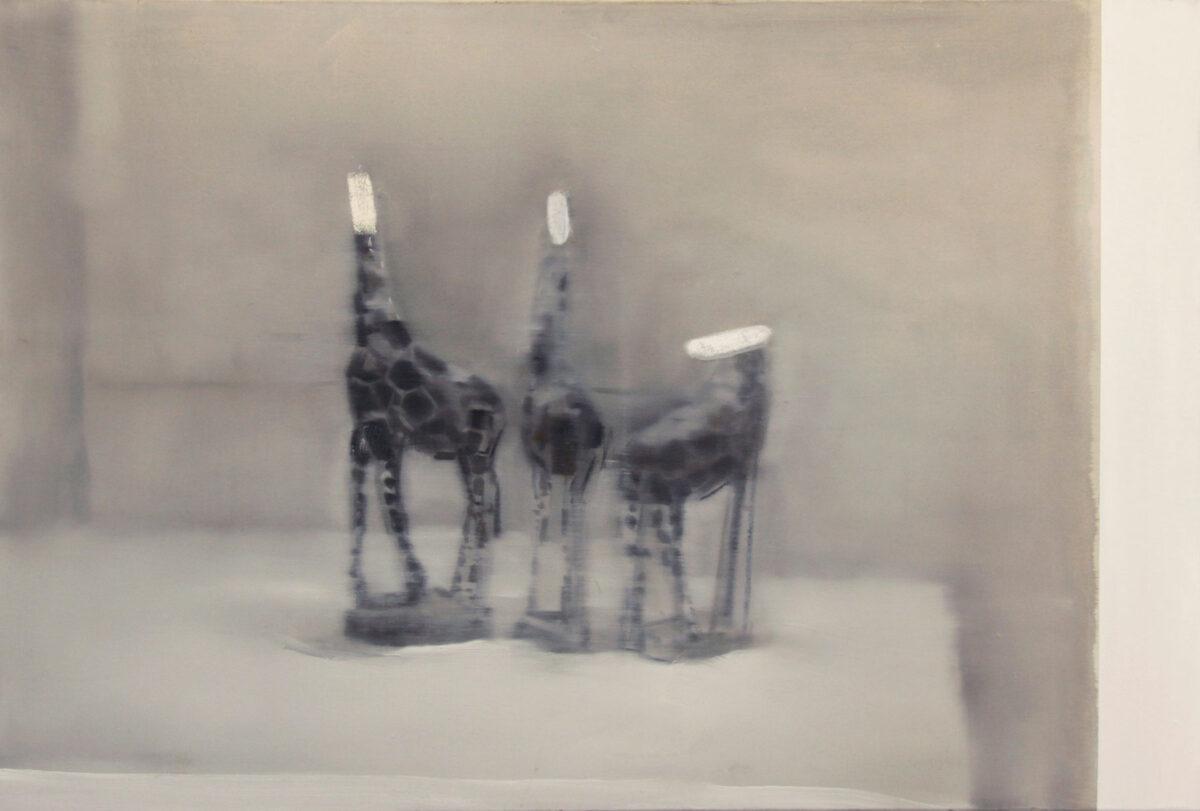 Βαγγέλης Γκόκας, «Οι τρεις επαίτες», 2011, 80x118 εκ. Ιδιωτική συλλογή.