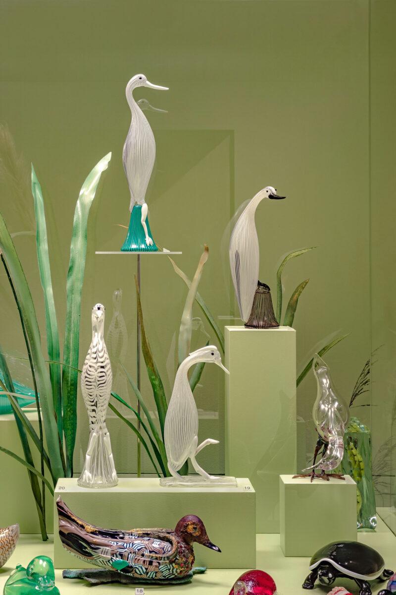 Άποψη της έκθεσης «The Glass Ark. Animals in the Pierre Rosenberg Collection» (φωτ.: Enrico Fiorese).