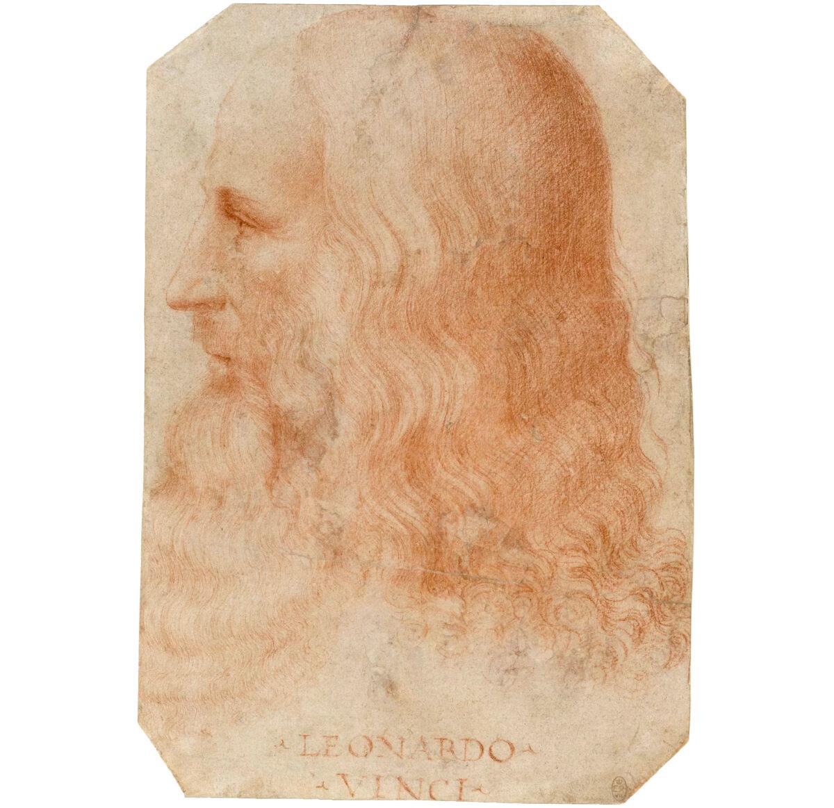 Πορτρέτο του Λεονάρντο ντα Βίντσι που αποδίδεται στον Φραντζέσκο Μέλτζι, περ. 1515-1518 (φωτ.: Βικιπαίδεια).