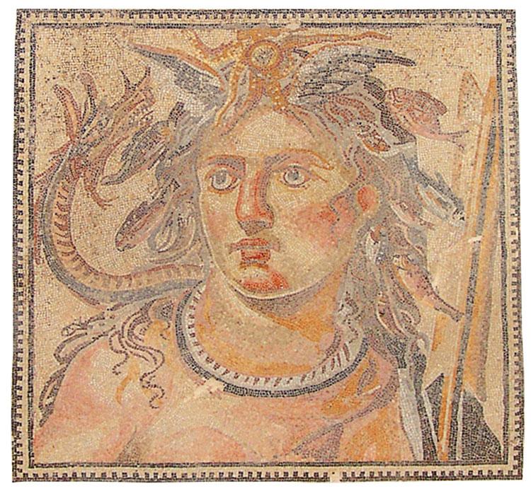Τα ψηφιδωτά που παρουσιάζονται στην έκθεση προέρχονται από τις συλλογές πολλών μουσείων της Συρίας.