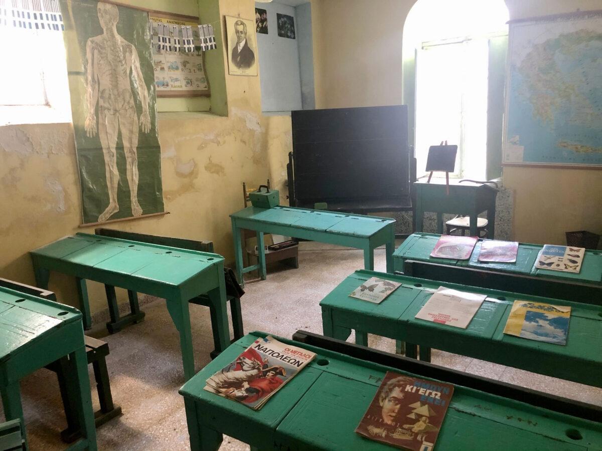 Αίθουσα διδασκαλίας στη Μονή Ουρσουλινών (φωτ.: ΥΠΠΟΑ).