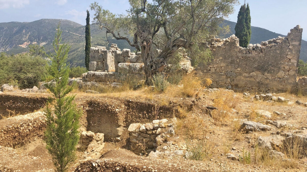 Αρχαιολογικός χώρος Αγίου Αθανασίου, στην Ιθάκη (φωτ.: ΥΠΠΟΑ).
