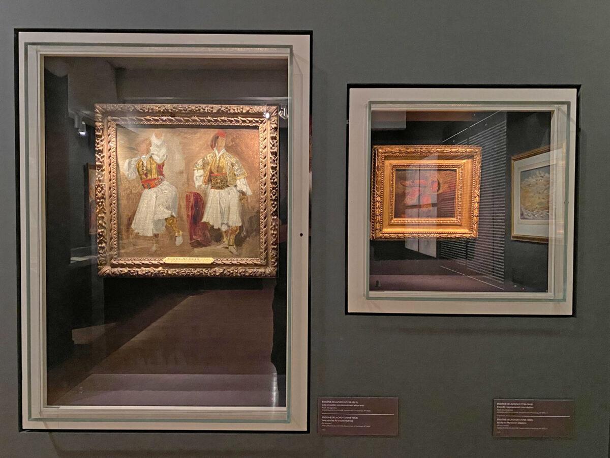 Τα δύο έργα του Ευγένιου Ντελακρουά όπως εκτίθενται στο Μουσείο Μπενάκη (φωτ.: Μουσείο Μπενάκη).