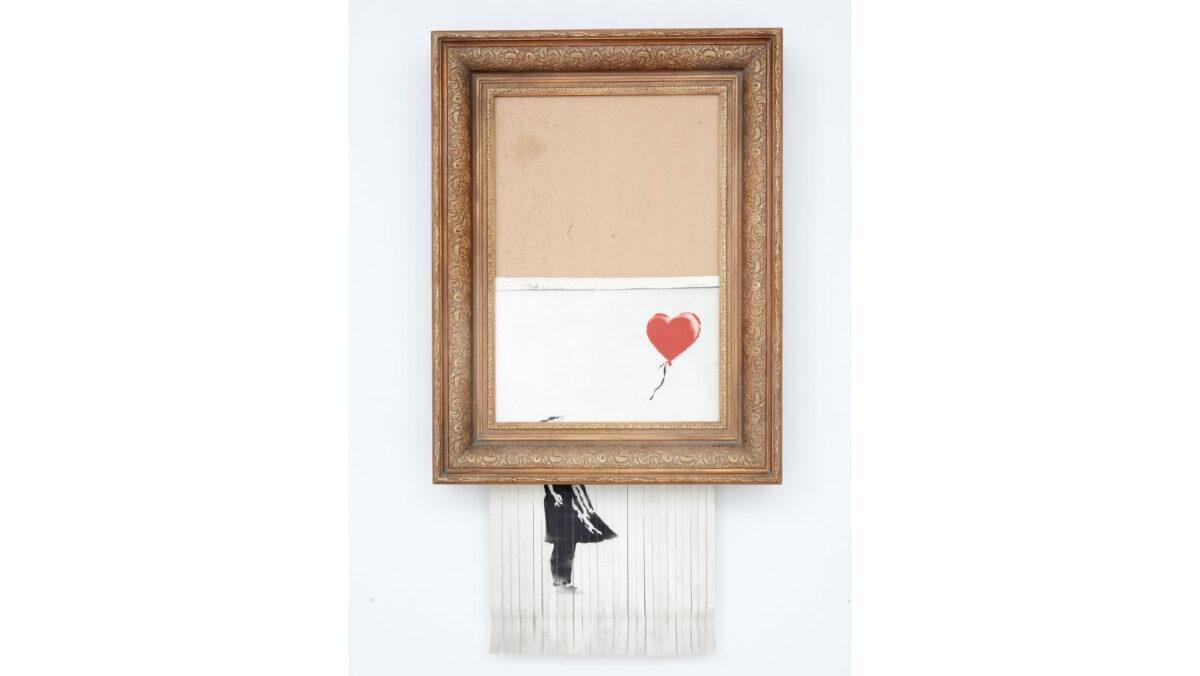 Το έργο του Banksy «Το Κορίτσι με το Μπαλόνι» που μετονομάστηκε σε «Η Αγάπη βρίσκεται στα Σκουπίδια» (φωτ.: Sotheby's).