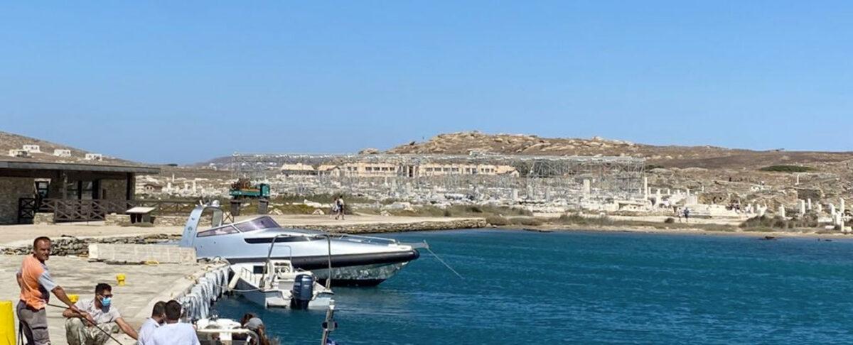 Το λιμάνι της Δήλου (φωτ.: ΥΠΠΟΑ).
